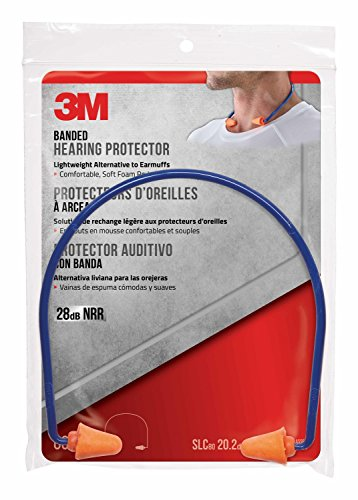 3M Safety Band Style Hearing Protector, Orange
