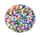 ca 200 Stück Multicolorperlen Spacer Beads 6 mm