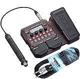 Zoom A1X - Aparato de efectos para instrumentos acústicos (incluye cable jack keepdrum de 3 m)