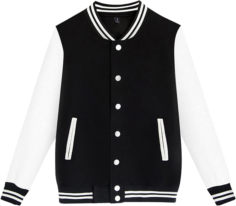 FORUU Baseball Jacket Men 2021 Fashion Fall Winter Coat Plus Size Solid Casual Stand Collar Sweater Jacket Sport Coat