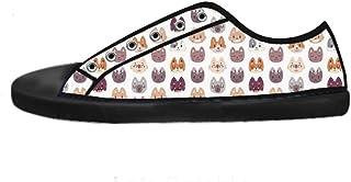 Custom Fox Men's Canvas Shoes I Lacci delle Scarpe in Alto sopra Le Scarpe da Ginnastica di Scarpe Scarpe di Tela.