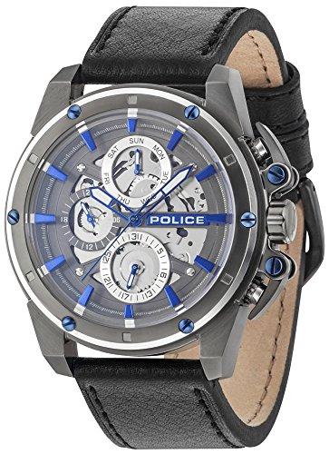 Police Herren Multi Zifferblatt Quarz Uhr mit Leder Armband PL14688JSUS.13