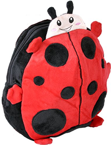 Character Backpack for Kids - Back to School Bags with Cute Animal Designs - Lightweight Rucksack - Perfect for Toddlers, Children, Boys & Girls (Ladybird)