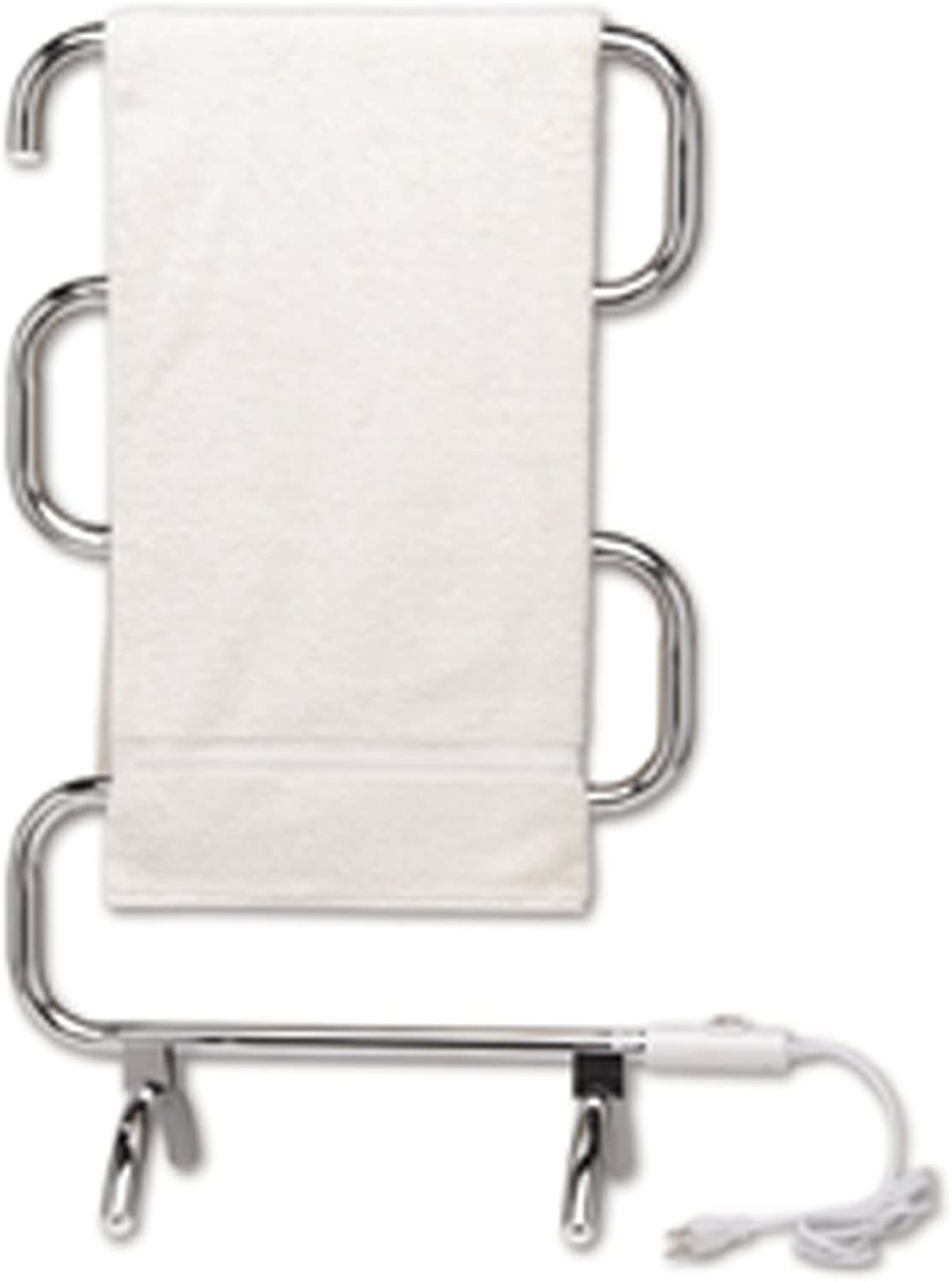 Warmrails HCC Classic Wall Mounted Floor Standing Towel Warmer, Chrome