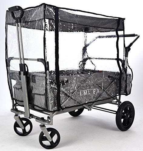 IMLEX IM-RS2 Regenschutz/Regenverdeck Zubehör für faltbaren Bollerwagen IM-2001, für Modelle mit Schiebefunktion