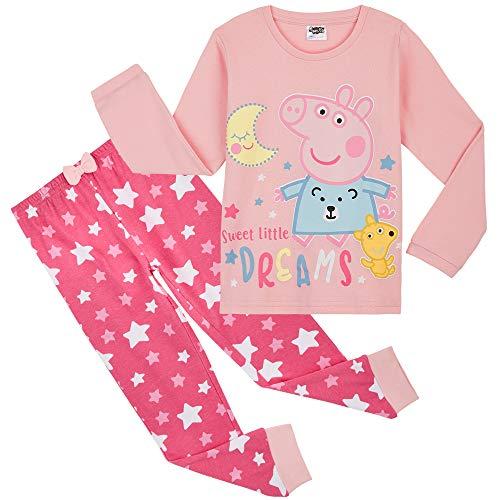 Peppa Pig Pijama Niña, Ropa Niña de Dormir 100% Algodon (3-4 años)