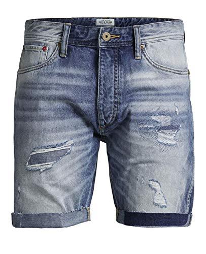JACK & JONES Herren Jeans Shorts Bermudas Denim Vintage (L, Blue Denim)