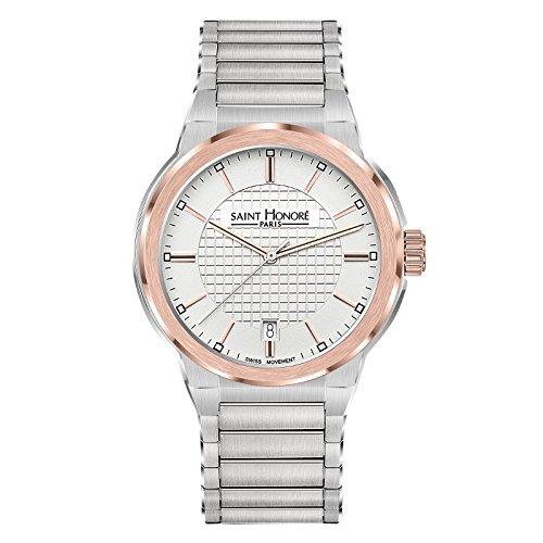 Saint Honoré Reloj Analogico para Hombre de Cuarzo con Correa en Acero Inoxidable 8611466AIR