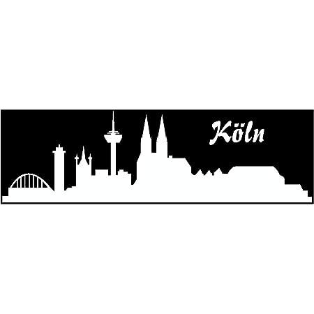 Samunshi Aufkleber Köln Skyline Autoaufkleber 20cm Nr 6 Silber Küche Haushalt