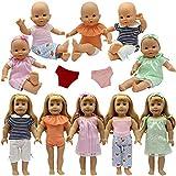 ZITA ELEMENT 9 STK. Puppenkleidung Bekleidung Zubehör für 35-46cm Babypuppe Puppen Kleider...