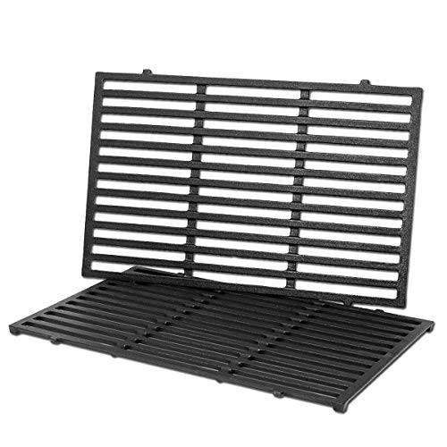 Uniflasy Cast Iron Grill Cooking Grid Grates Replacement Parts for Weber 1100 LP, SP310, 2381001, 3720301, 4421001, 46510001, 47510001, 6721001, 67214