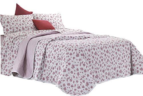 RP Giuly beddengoed set - Made in Italy - 100% strak geweven katoen - 2 plaatsen. Tweepersoonsbed - Roze