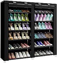 Shoe Cabinet Organizer 2 Doors Black