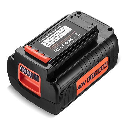 Powerextra 3.0Ah 40 Volt MAX Replacement Battery Compatible with Black&Decker LBX2040 LBX36 LBXR36 LBXR2036 40V Lithium Ion Battery