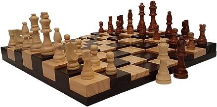 AMBRIZZOLA Large Scala Wooden Chess Gift Set (16