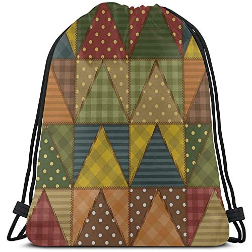 Yuanmeiju Kordeltasche ziehen,Kordelzug Gym Sack,Art 3D Retro Fashion Quilted Painting Boys String Backpack Summer String Pull Bag Summer String Pull Bag for Gym,Outdoor,Travel