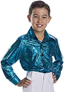 Charades Crocodile Skin Children's Disco Top , Turquoise, Small