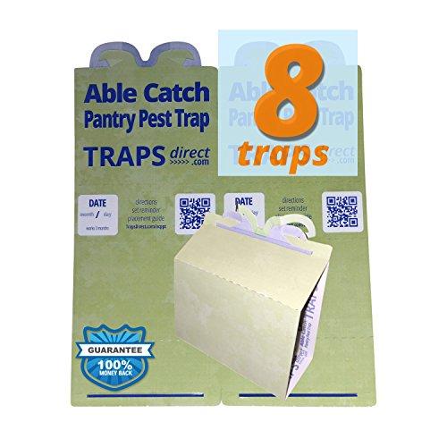 8 Pantry Moth Traps | Effective Nontoxic Pheromone Lure | USA Made | Guarantee