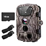 BOBLOV Trail Camera H883 18MP HD 1080P Hunting Camera Wildlife Monitor with LCD Night Vision 0.2-0.5Trigger Time Waterproof with Extra 16G Card and Belts (H883 18MP with 16G Card and Extra Straps)