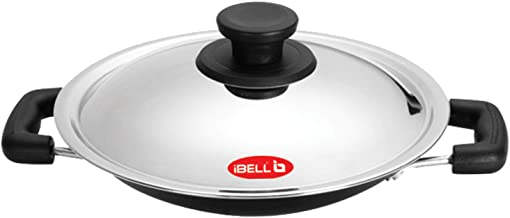 iBELL Premium Non-Stick Aluminium Appachatty with Lid, 200mm (Appam Pan)