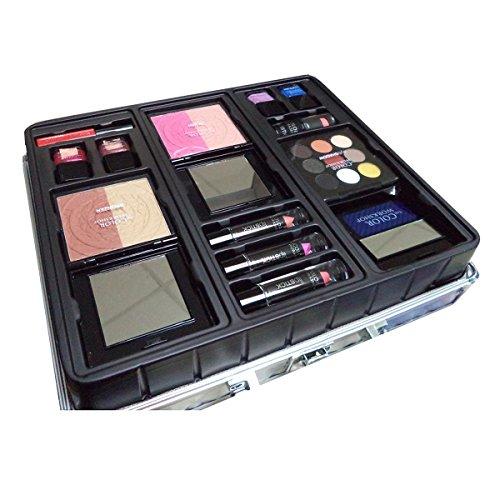 Markwins – Color Workshop MALETIN Argent 43 Lapices lèvres + coloretes + Vernis à Ongles + Ombres à Paupières Femme