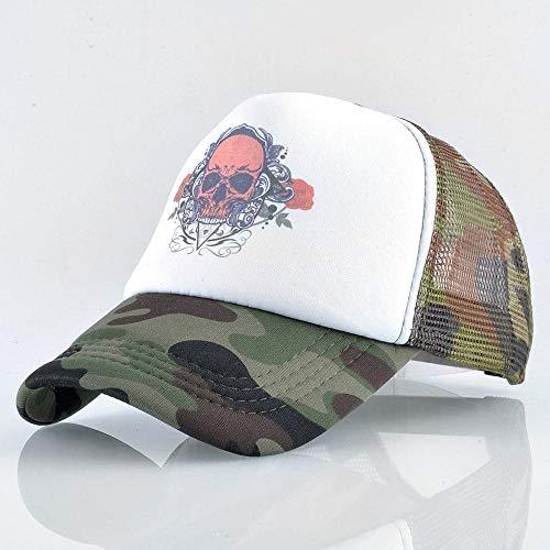 CapHerren Kappe Schädel Baseball Caps Männer Trucker Hut Mit Mesh Snapback Hip Hop Frauen Streetwear Verstellbare Camouflagecap