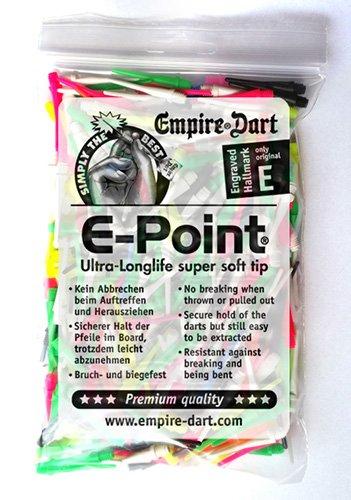 Empire Dart Softdartspitzen, E-Point, 2BA, lang, sortiment, 500 Stück, 20014