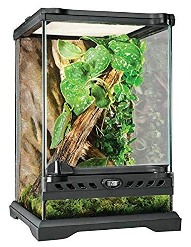 Exo Terra Glass Natural Terrarium Kit, for Reptiles and Amphibians, Nano Tall, 8 x 8 x 12 inches, PT2601A1