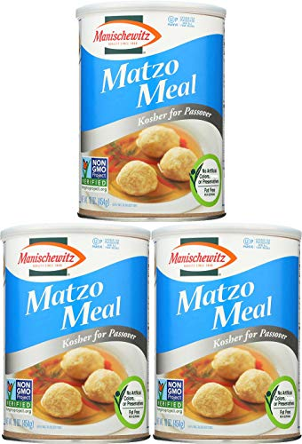 Manischewitz Matzo Meal Passover Canister, 16 Oz (Pack of 3, Total of 48 Oz)