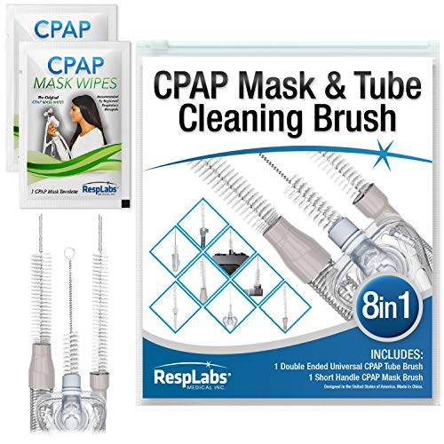 RespLabs CPAP Schlauchreinigungsbürste - Das [8 in 1] System für Jeden CPAP-Schlauchtyp: Standard-, Slim Line- und Beheizte Schläuche