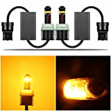 Alla Lighting Directly Plug & Play T20 7440 CANBUS LED Signal Light 1300 Lumens Error Free 21W Extremely Super Bright Amber Yellow 12V W21W 7441 WY21W LED Bulbs for Car Turn Signal Blinker Light