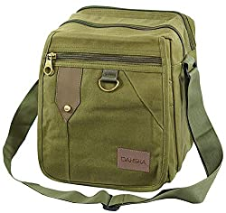 DAHSHA Sling Cross body Travel Office Business Messenger bag (Olive, 22X715x25 cm),DAHSHA