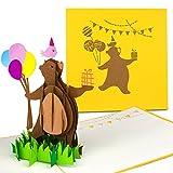 PaperCrush® Pop-Up Karte Kindergeburtstag - 3D Geburtstagskarte für Mädchen und Jungen, Kinder Glückwunschkarte, Geschenkkarte zum Kinder-Geburtstag