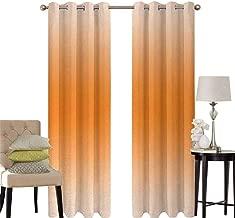 hengshu Ombre Black Out Window Curtain 2 Panel Scorching Desert Sunny Hot Summer Season Inspired Design Digital Modern Art Print Image Living Room Curtains for Bedroom W52 x L36 Inch Orange