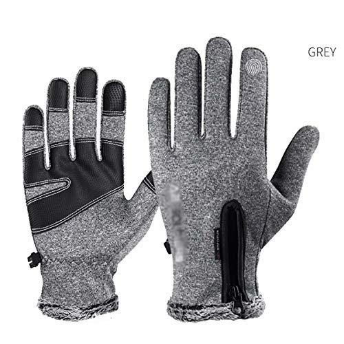 ZN-Home-Gloves Gants tactiles Chauds pour Hommes en Hiver - Coupe-Vent Multifonctionnel Anti-dérapant imperméable à l'eau , pour Le Cyclisme en Plein air, la pêche, la Marche, Le Jogging