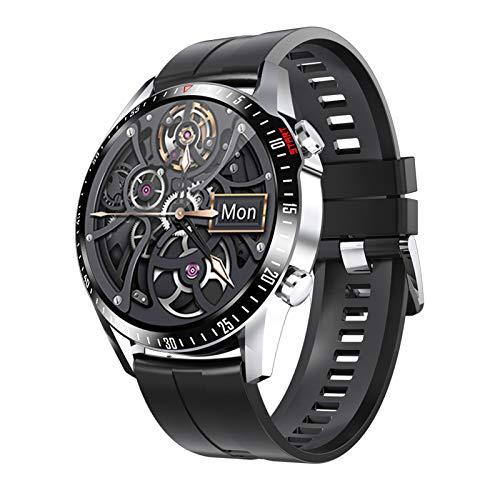 RNNTK Smartwatch Fitness Tracker Reloj Deportivo, Llamadas Bluetooth Frecuencia Cardíaca Presión Sanguínea Oxígeno En Sangre Monitoreo GPS Movimiento Pulsera Inteligente Medición De-C