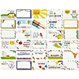 Juvale Lunch Box Notes, Inspirational and Motivational Cards for Kids (2x3.5 in, 60 Pack)