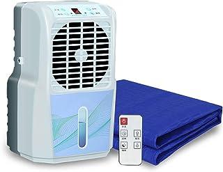 ColchóN FríO Con Aire Acondicionado,Dormir Fresco CojíN Ideal,Almohadilla De Refrigeraci Para Dormir En Verano ,Individual, Doble, Ventilador De Aire Acondicionado,Blue-160x70cm/62.9x27.5in