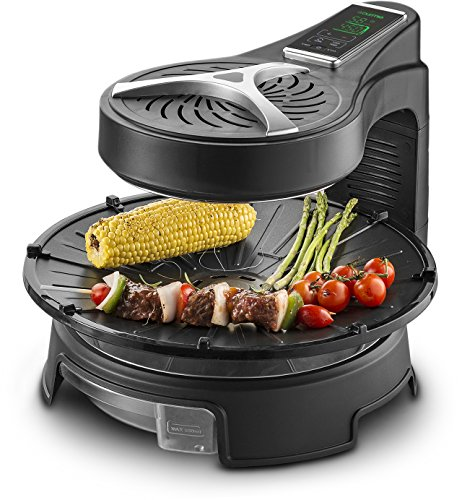 Gourmia Rotating Grill, One Size, Black
