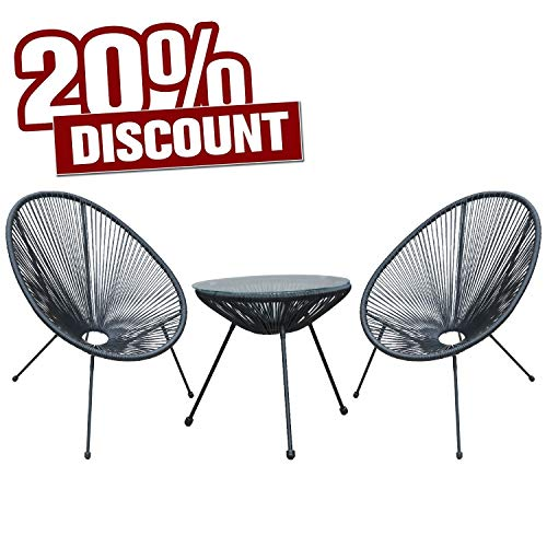 SEVGTY Indoor-Outdoor Egg Chair,Acapulco Lounge Patio Chair with Stand,All-Weather Wicker Chairs...