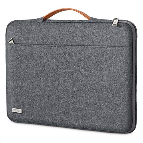 TECOOL Laptop Hülle Tasche für 14 Zoll Lenovo Thinkpad Ideapad HP Acer Dell Notebook, 15 Zoll Surface Laptop 3, 2016-2019 MacBook PRO 15 Schutzhülle Notebooktasche Sleeve mit Handgriff, Dunkelgrau