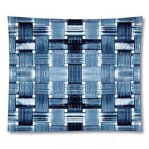 PPOU Arazzo geometrico appeso a parete coperta bohemien rombo rettangolo decorazione murale sfondo arazzo di stoffa A10 180x200 cm