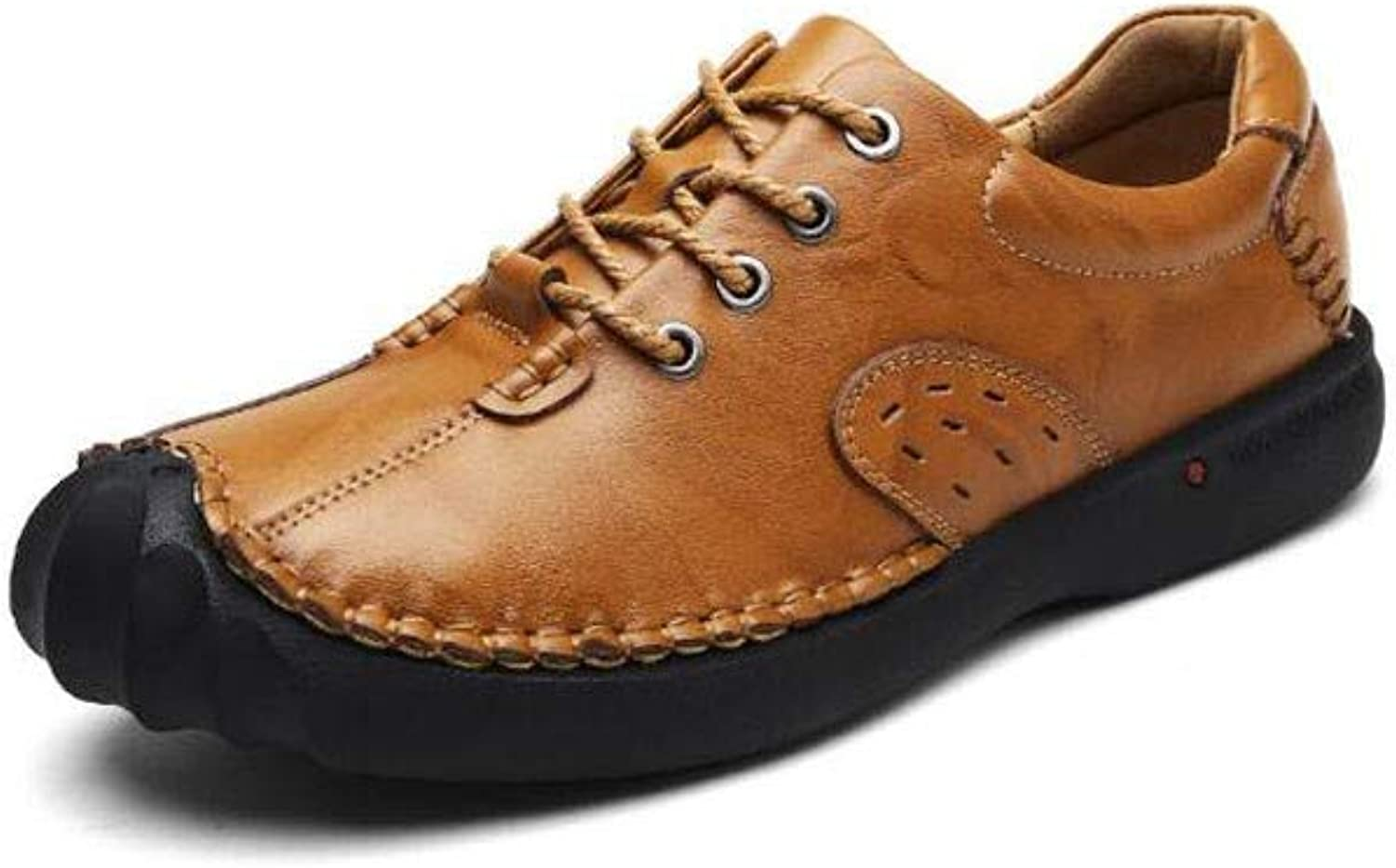 Jiang-ZX Men's shoes,Casual shoes Large Size Breathable shoes British Trend Leather Handmade shoes
