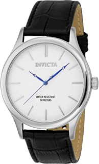 Invicta 23023 Vintage Men's Wrist Watch Stainless Steel Quartz White Dial, Analog Display