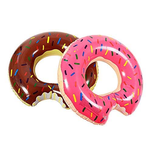 Zakka Flotador Forma de Donut Anillo de natación Rosa para Piscina y Playa PVC Reforzado