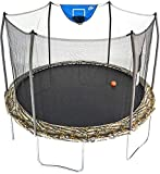 Skywalker Trampolines 12-Foot Jump N' Dunk Trampoline with Enclosure Net - Basketball Trampoline, Camo