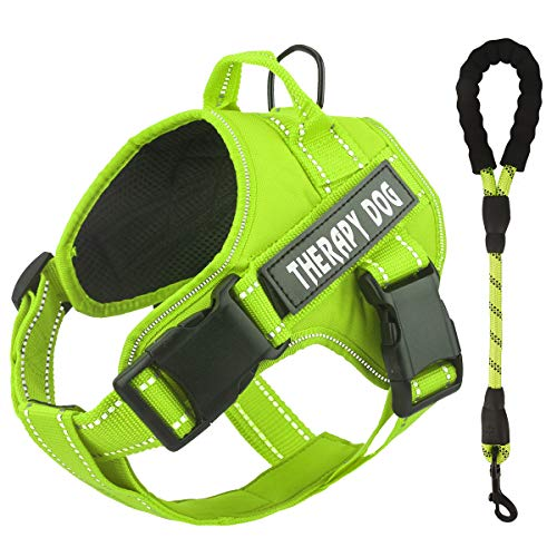 Bolux Dog Harness, No Pulling Pet Vest Harness Service Dogs Vest with Nylon Handle Easy Control in Training Pet Halters with Dog Leash for Medium Large Dogs