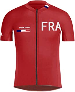 Cycling Jersey Mens Short Sleeve Breathable Road Bike Shirt Riding Tops and Shorts Suits National Team DXMZ08
