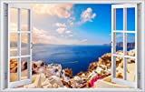 DesFoli Urlaub Meer Santorin Griechenland 3D Look