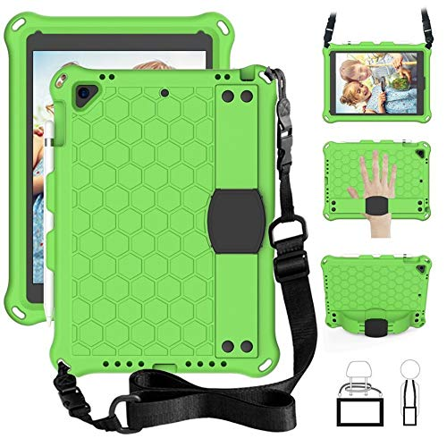 HHF Tab Accessories For Ipad 2018 Case, 9.7', Honeycom Tablet Cover Shockproof Soft Kids case For Ipad Air 2/air/pro 9.7/for Ipad 2017 (Color : Green)